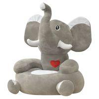 vidaXL børnestol i plys grå elefant