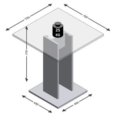 FMD spisebord 70 cm hvid