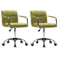 vidaXL drejelige spisebordsstole 2 stk. stof grøn