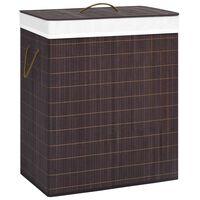vidaXL vasketøjskurv 100 l bambus brun