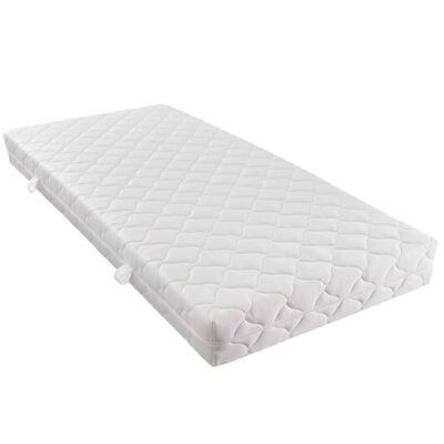 vidaXL seng med madras 180 x 200 cm stof brun