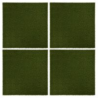 vidaXL kunstgræsfliser 4 stk. 50x50x2,5 cm gummi