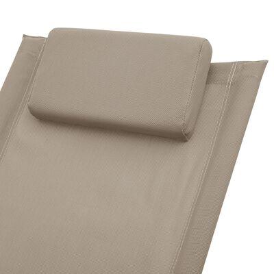 vidaXL liggestol til børn stål gråbrun