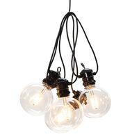 KONSTSMIDE lyskæde med 10 kugleformede lamper ekstra varmt lys