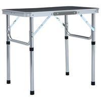 vidaXL foldbart campingbord 60 x 45 cm aluminium grå