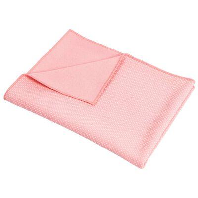 Pure2Improve yogahåndklæde skridsikkert stof lyserød