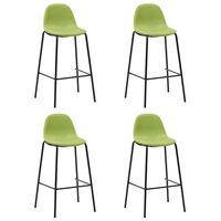 vidaXL barstole 4 stk. stof grøn