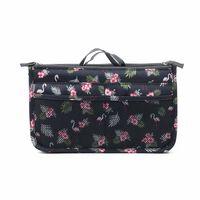 Taske i taske Håndtaskeindsats Taskeindsats Flamingo Sort