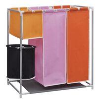 vidaXL 3-sektions fordelt vasketøjskurv