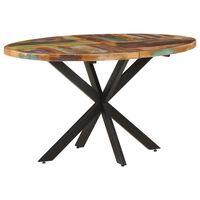 vidaXL spisebord 140x80x75 cm massivt genbrugstræ
