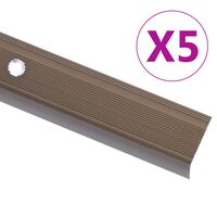 vidaXL 5 stk. trappelister L-facon 100 cm aluminium brun