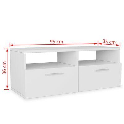 vidaXL TV-skabe 2 stk. spånplade 95 x 35 x 36 cm hvid