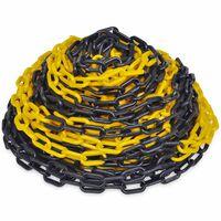 30 m advarselskæde i plastik, gul og sort