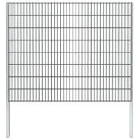 vidaXL 2D gabionhegn galvaniseret stål 2,008x1,63 m 20 m grå
