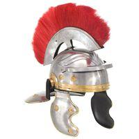 vidaXL romersk soldaterhjelm til rollespil antik stål sølvfarvet
