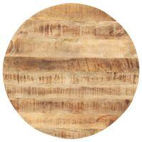 vidaXL bordplade 15-16 mm rund 80 cm massivt mangotræ
