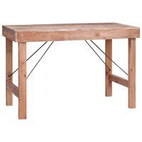 vidaXL spisebord 120x60x80 cm massivt genbrugstræ