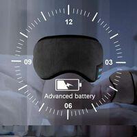 Sovemaske med hovedtelefoner Bluetooth 5.0 - sort