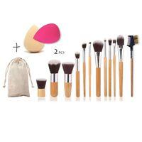 Sæt Med 12 Makeup-børster, 2 Svampe