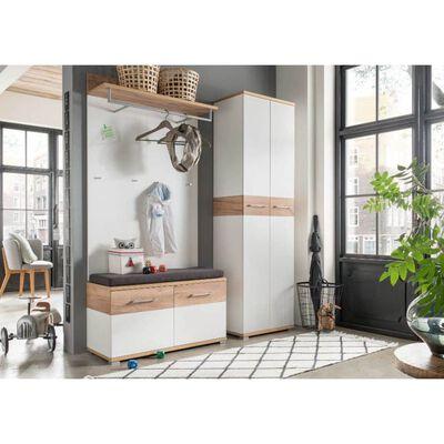 Germania knagerækkepanel Topix 96 x 29 x 147 cm hvid og eg