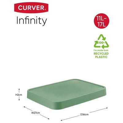 Curver opbevaringskurv med låg Infinity 4 stk. 11 l + 17 l grøn