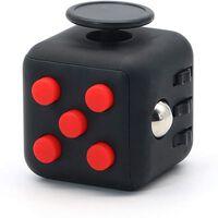 Fidget Cube For Bedre Koncentration Sort / Rød