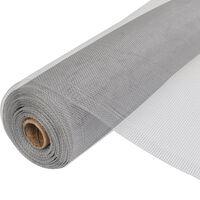 vidaXL net aluminium 150 x 1000 cm sølvfarvet