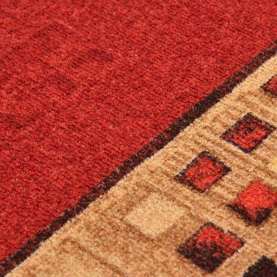 vidaXL tæppeløber 67x200 cm gelunderside rød