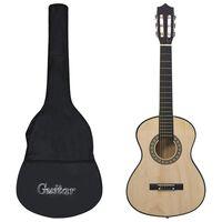 """vidaXL klassisk guitar med taske for begyndere og børn 1/2 34"""""""