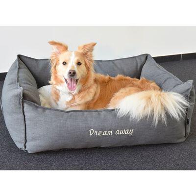 FLAMINGO hundekurv med lynlås Dream Away 90x70 cm grå