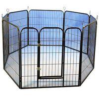@Pet modulær hvalpekravlegård 79x81cm sort