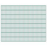 vidaXL havehegnspaneler 2D 2,008x1,63 m 22 m (total længde) grøn