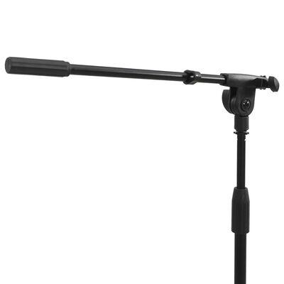 vidaXL keyboardstativ med mikrofonstativ og nodeplade