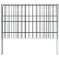 vidaXL 2D gabionhegn galvaniseret stål 2,008x1,23 m 6 m grå