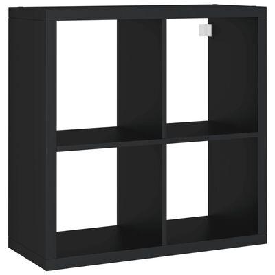vidaXL væghylde 69,5x29,5x69,5 cm kubeformet MDF sort