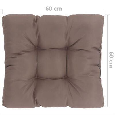 vidaXL udendørs sædehynde 60 x 60 x 10 cm stof gråbrun