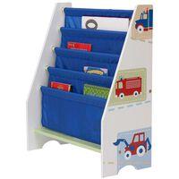 Worlds Apart bogreol til børn lastbiler og traktorer hvid WORL230007