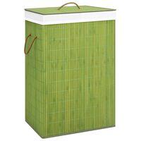 vidaXL vasketøjskurv bambus grøn