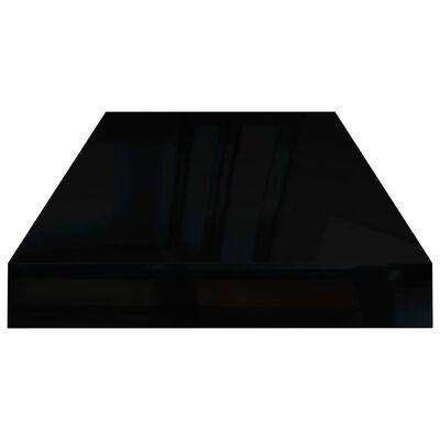 vidaXL svævehylder 4 stk. 60x23,5x3,8 cm MDF sort højglans