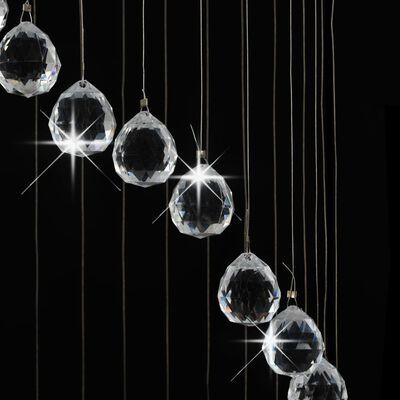 vidaXL loftlampe med krystalperler spiralform G9 sølvfarvet