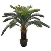 vidaXL kunstig cycaspalme med urtepotte grøn 90 cm