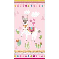 Good Morning badehåndklæde LAMA 75x150 cm pink