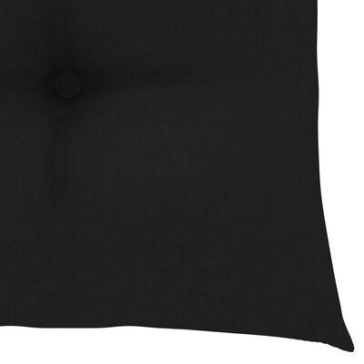 vidaXL hynder til havestole 2 stk. 40x40x7 cm stof sort