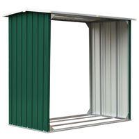 vidaXL brændeskur 172 x 91 x 154 cm galvaniseret stål grøn