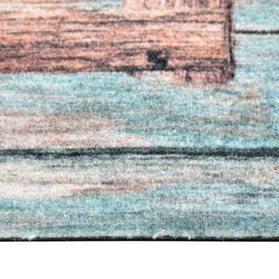vidaXL vaskbar køkkenmåtte 60x180 cm Love-print