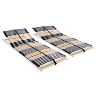 vidaXL lamelbunde til seng 2 stk. 42 lameller 7 zoner 90 x 200 cm