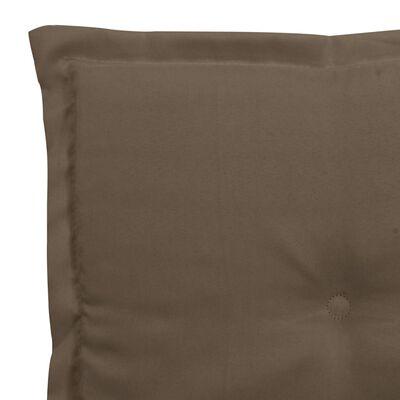 vidaXL hynde til havebænk 100x50x3 cm gråbrun