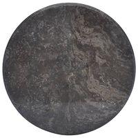 vidaXL bordplade Ø50x2,5 cm marmor sort