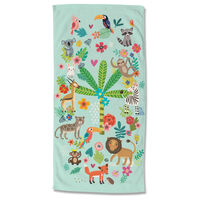 Good Morning badehåndklæde HAPPY 75x150 cm flerfarvet