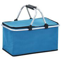 vidaXL foldbar køletaske 46 x 27 x 23 cm aluminium blå